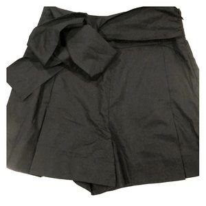 Jcrew Tie-waist short in cotton poplin black
